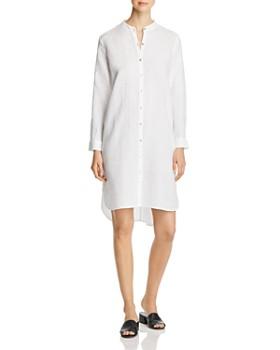 Eileen Fisher - Banded-Collar Linen Shirt Dress