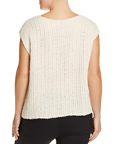 Eileen Fisher Plus - Fuzzy Cap-Sleeve Sweater