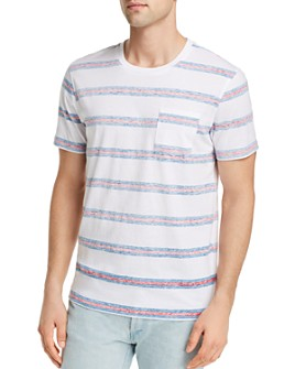Pacific & Park - Reverse-Print Striped Tee - 100% Exclusive