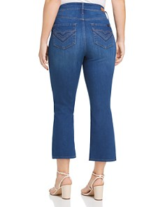 Seven7 Jeans Plus - Cropped Bootcut Jeans in Marine Navy