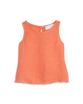 Bella Dahl - Girls' Frayed-Hem Swing Tank - Little Kid