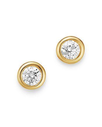Bloomingdale's - Diamond Bezel Set Stud Earrings in 14K Yellow Gold, 0.20 ct. t.w. - 100% Exclusive