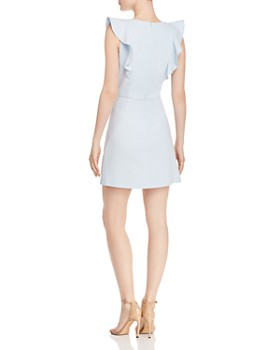 FRENCH CONNECTION - Whisper Ruffled V-Neck Mini Dress