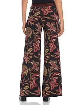 Scotch & Soda - Floral-Jacquard Wide-Leg Pants