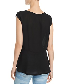 Wilt - Sleeveless High/Low Peplum Top
