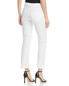 MOTHER - Dazzler High-Rise Ankle Straight-Leg Jeans in Glass Slipper