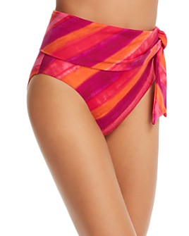 Ralph Lauren - Painted Stripe High-Waist Bikini Bottom