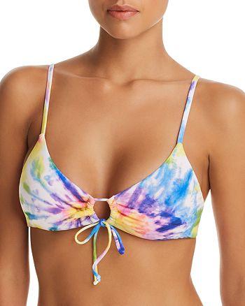 Ralph Lauren - Spiral Tie-Dyed Loop Front Bikini Top