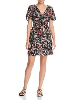 9a30f7076f4 AQUA - Leopard Floral A-Line Dress - 100% Exclusive ...