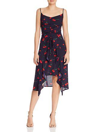 AQUA - High/Low Cherry Print Midi Dress - 100% Exclusive