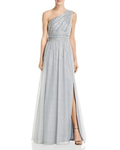 Adrianna Papell - Embellished One-Shoulder Gown