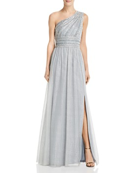 ddacf0b8132 Adrianna Papell - Embellished One-Shoulder Gown ...