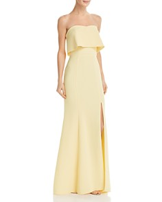 Avery G - Strapless Crepe Gown