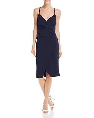 Eliza J Dresses FAUX WRAP DRESS