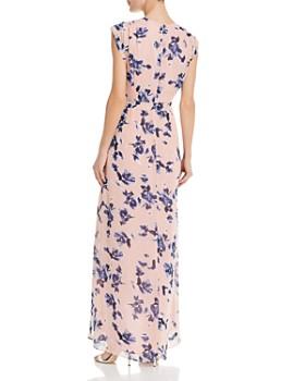 Eliza J - Floral Faux-Wrap Maxi Dress