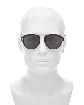 Dior - Men's Fraction Brow Bar Aviator Sunglasses, 50mm