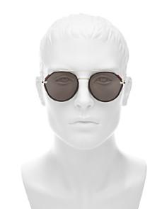 Dior - Men's Vintage Mirrored Brow Bar Round Sunglasses, 52mm