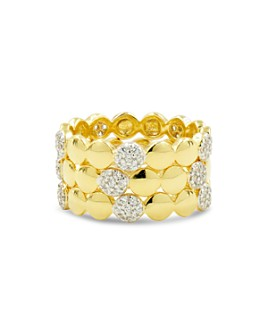 Freida Rothman - Radiance Stacking Rings in 14K Gold-Plated & Rhodium-Plated Sterling Silver, Set of 3