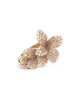 Pasquale Bruni - 18K Rose Gold Stelle in Fiori White & Champagne Diamond Ring
