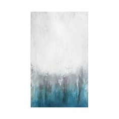 Art Addiction Inc. - Abstract Ice Blue Small Wall Art