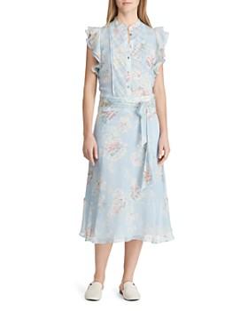 2dfa2f3fc6 Ralph Lauren - Floral-Print Ruffle Midi Dress ...