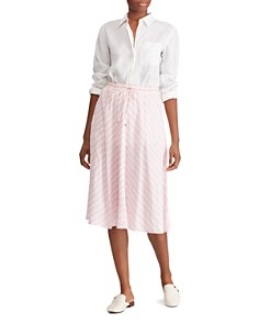 Ralph Lauren - Striped A-Line Midi Skirt