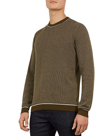 Ted Baker - Somtime Birdseye Crewneck Sweater