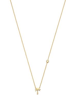Zoe Chicco 14K Yellow Gold Itty Bitty Palm Tree & Sun Pendant Necklace, 18