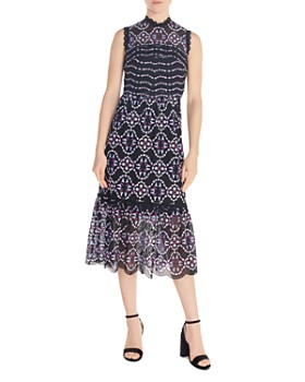541917ce458 Sandro - Inaya Printed Midi Dress ...