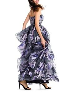 Aidan Mattox - Strapless Floral Ball Gown