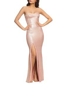 Dress the Population - Ellen Sequined Strapless Gown