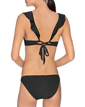 Robin Piccone - Ruffled Bikini Top & Clean Finish Bikini Bottom