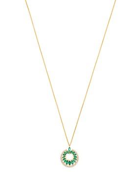 "Madhuri Parson - 14K Yellow Gold Diamond Essentials Emerald & Diamond Pendant Necklace, 18"""