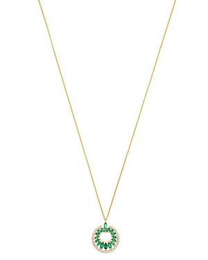 Madhuri Parson 14K Yellow Gold Diamond Essentials Emerald & Diamond Pendant Necklace, 18