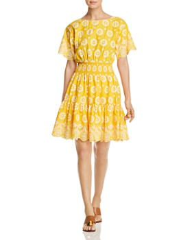 Tory Burch - Embroidered Eyelet Dress