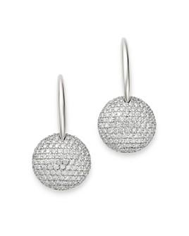 Roberto Coin - 18K White Gold Fantasia Diamond Round Drop Earrings