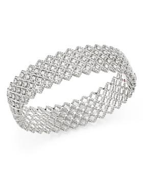 b3745d33ee56a9 Roberto Coin - 18K White Gold Roman Barocco Diamond Bangle Bracelet ...