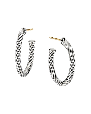 David Yurman Accessories STERLING SILVER CABLE SMALL HOOP EARRINGS
