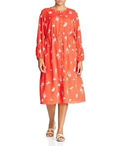 B Collection by Bobeau Curvy - Diane Floral-Print Button-Front Dress