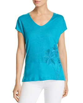 Tommy Bahama - Palm Paradiso Embroidered Linen Tee