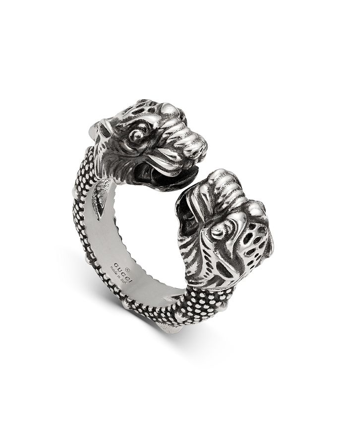 Gucci - Sterling Silver Vintage Tiger Ring
