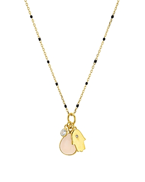 Argento Vivo Multi Charm Pendant Necklace in 14K Gold-Plated Sterling Silver, 16