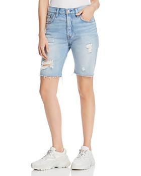 Levi's - 501 High Rise Slouch Denim Shorts in Slouch Around