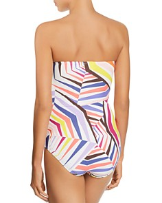 kate spade new york - Molded Cup Bandeau One Piece Swimsuit