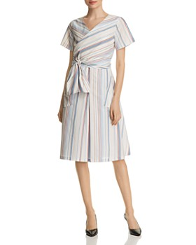 BOSS - Darap Striped Wrap-Front Dress - 100% Exclusive