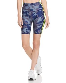 Wear It To Heart - Side-Stripe Camo Bike Shorts