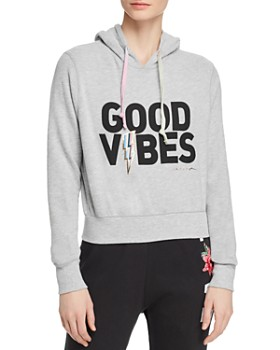 Spiritual Gangster - Good Vibes Cropped Hooded Sweatshirt