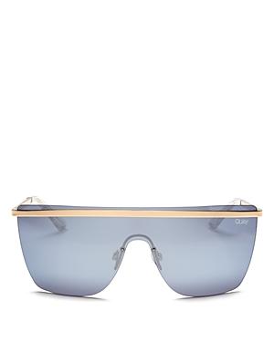 Quay Sunglasses X JLO GET RIGHT MIRRORED SHIELD SUNGLASSES, 54MM