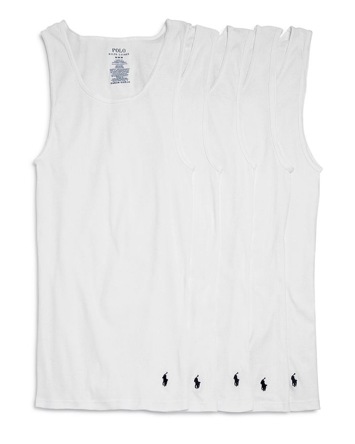 Polo Ralph Lauren - Classic Fit Ribbed Tank Top - Pack of 5