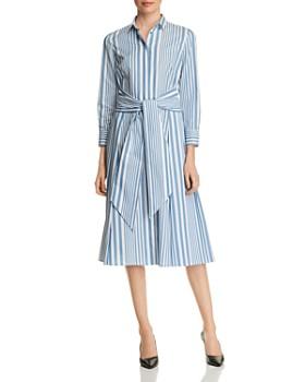 BOSS - Hebrana Striped Shirt Dress